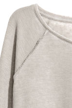 Top in jersey a nido d'ape - Grigio - DONNA | H&M IT 3